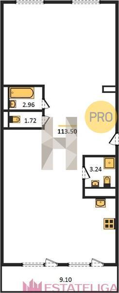 Продажа квартиры ЖК Arco di Sole. Лот 728654