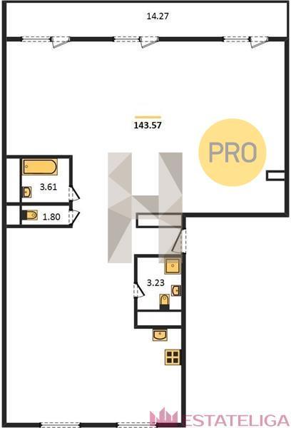 Продажа квартиры ЖК Arco di Sole. Лот 728509